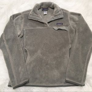 Patagonia Re Tool Snap T Fleece Pullover Grey